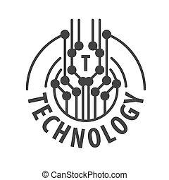 標識語, 摘要, 矢量, 技術, 芯片