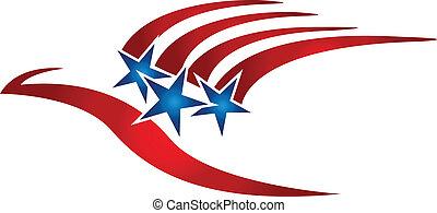 標識語, 旗, 鳥, 美國