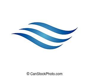 標識語, 水, 波浪
