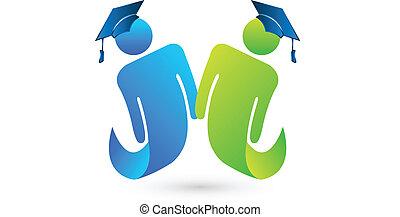 標識語, 矢量, 學生, 畢業