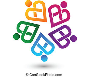 標識語, 矢量, 配合, 好伙伴
