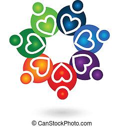 標識語, 配合, 團結, 人們