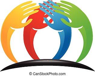 標識語, 配合, 手, 統一
