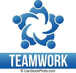 標識語, 5, teamwork., 組, 人們