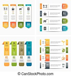 模板, infographic, 集合