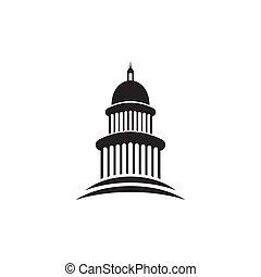 樣板, 建築物設計, 界標, 矢量, 標識語, 州議會大廈