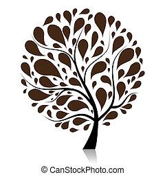 樹, 你, 藝術, 設計, 美麗