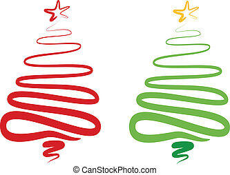 樹, 摘要, 矢量, 聖誕節