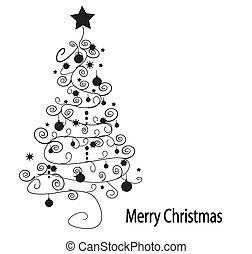 樹。, 矢量, 聖誕節