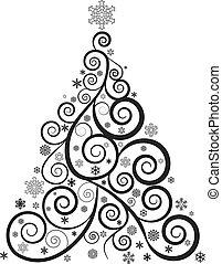 樹, 聖誕節, 裝飾華麗
