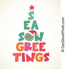 樹, typographical, 聖誕節
