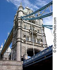 橋樑塔, -, 天, 倫敦