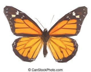 橙, 帝王蝴蝶