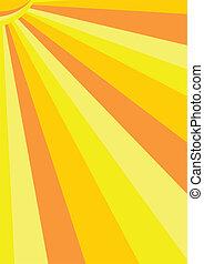 橙, 矢量, 陽光普照, 背景, 黃色