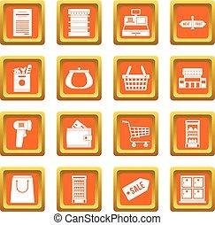橙, 集合, 超級市場, 圖象