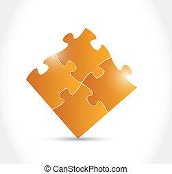 橙, 難題, 設計, 插圖, 片斷