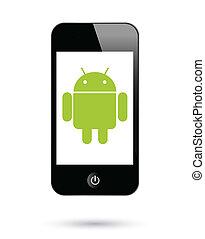 機器人, smartphones, operationg, 系統