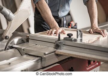 機器, 使用, 木匠, 鋸
