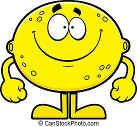 檸檬, 卡通, 微笑