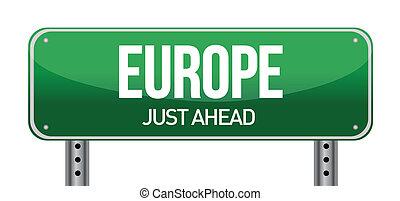 歐洲, 方向, 路標
