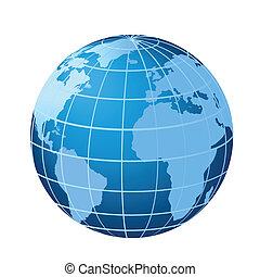 歐洲, 美洲, 全球, 非洲, 顯示