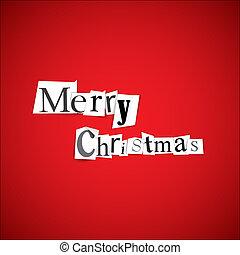 歡樂, 矢量, -, 聖誕節, 插圖