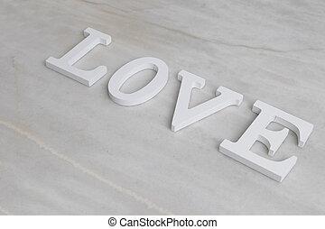 正文, 詞, 愛, 大理石, 背景