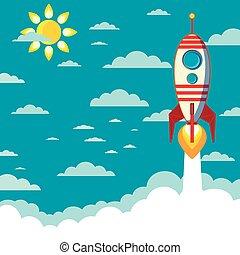 正文, 飛行, 火箭, 空間