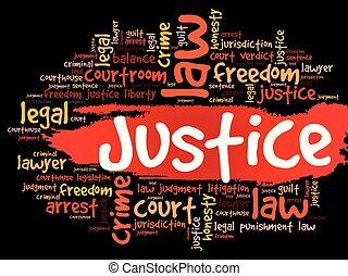 正義, 拼貼藝術, 詞, 雲