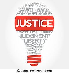 正義, 燈泡, 詞, 雲