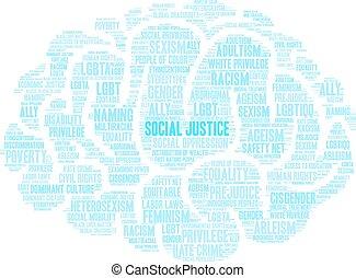 正義, 雲, 社會, 詞