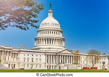 正面, 建築物, 華盛頓特區, 東方, 首都