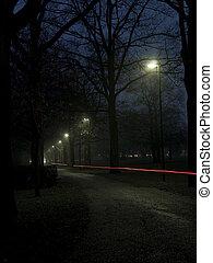 步行, 夜晚