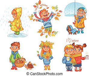 步行, autumn., 愛, 在戶外