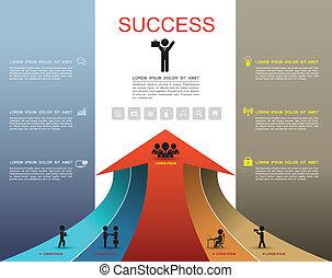 步驟, 選擇, 向上, 成功, 箭