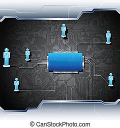 母板, 聯网, 人類