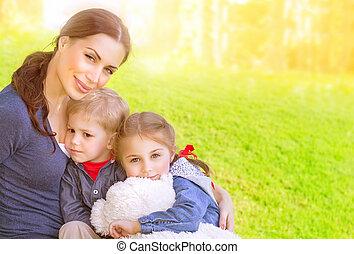 母親, 嬰孩, 後院