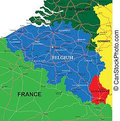 比利時, 地圖