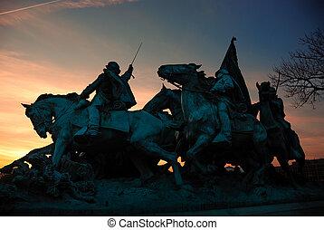 民用, dc., 紀念館, 華盛頓, 戰爭