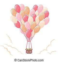 气球, 心