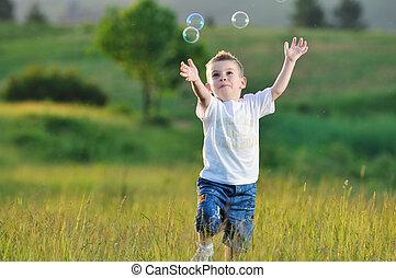 氣泡, 孩子