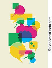 氣泡, 相互作用, 演說, 社會