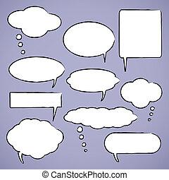 氣泡, 矢量, 閒談, 插圖