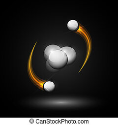 氦, 原子