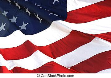 水平, 旗, 美國人, 看法