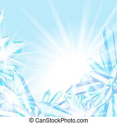 水晶, 閃耀, 冰