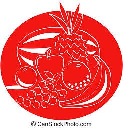 水果, 藝術, 夾子