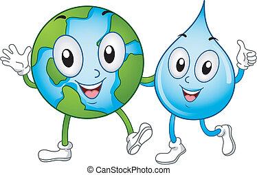 水, 世界, 吉祥人