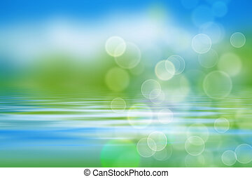水, 波浪, 背景, 綠色, 自然