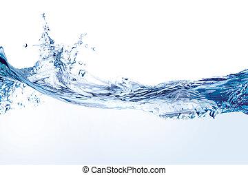 水, 白色, 飛濺, 被隔离